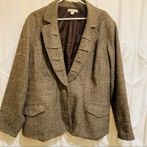Womens Tweed Blazer Business Professional Size 24w